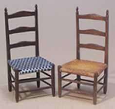 Miniature Shaker High Back Chairs