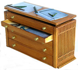 Miniature Architects Drawers