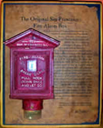 Miniature San Francisco Fire Alarm Box