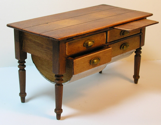 Miniature Shaker Country Dough Table