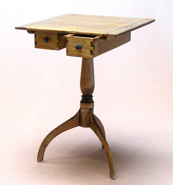 Miniature Shaker Sewing Table with Drawers