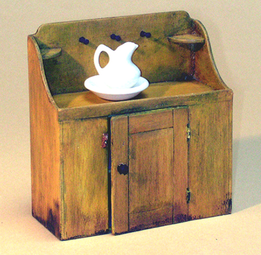 Miniature Shaker Wash Bench Dry Sink